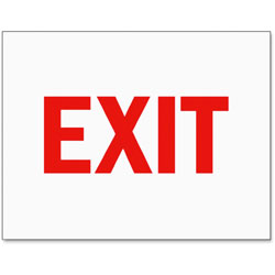Tarifold Safety Sign Inserts-Exit, Red