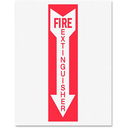 Tarifold Safety Sign Inserts-Fire Extinguisher, Red/White
