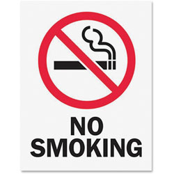 Tarifold Safety Sign Inserts-No Smoking, Red/Black