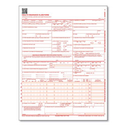 ComplyRight CMS-1500 Health Insurance Claim Forms, One-Part, 8.5 x 11, 250 Forms