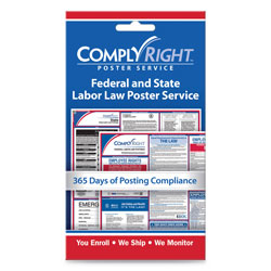 ComplyRight Labor Law Poster Service,  inState/Federal Labor Law in, 4w x 7h