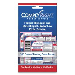 ComplyRight Labor Law Poster Service,  inState Labor Law in, 4w x 7h