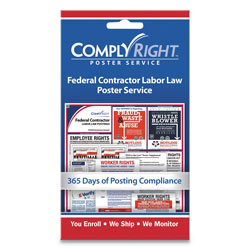 ComplyRight Labor Law Poster Service,  inFederal Contractor Labor Law in, 4w x 7h