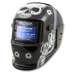 Titan Auto Darkening Welding Helmet - Skull and Pistols