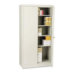 Tennsco 72 in High Standard Cabinet, 36w x 18d x 72h, Light Gray