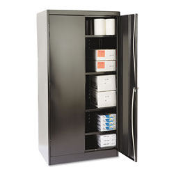 Tennsco 72 in High Standard Cabinet, 36w x 24d x 72h, Black