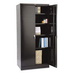 Tennsco 78 in High Deluxe Cabinet, 36w x 24d x 78h, Black