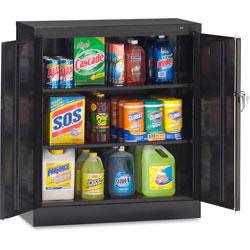 Tennsco Counter Height Cabinet with Reinforced Doors, 36 inx18 inx42 in, Black