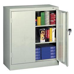 "Tennsco Storage Cabinets, Reinforced Doors, 36""x18""x42"", Light GY"