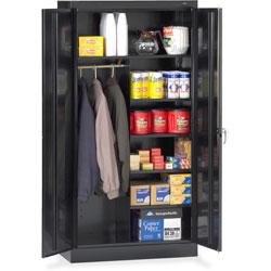 Tennsco Combination Wardrobe/Storage Cabinet, 36 inx18 inx72 in, Black