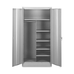 "Tennsco Combination Storage Cabinets, 36""x18""x72"", Light Gray"