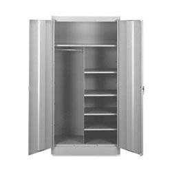 Tennsco Combination Wardrobe/Storage Cabinet, 36 inx18 inx72 in, Gray