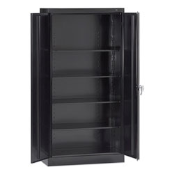 Tennsco 72 in High Standard Cabinet (Assembled), 30 x 15 x 72, Black