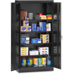 Tennsco Standard Storage Cabinet, 36 inx18 inx72 in, Black