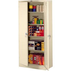 Tennsco Deluxe Storage Cabinet, 36w x 24d x 78h, Putty