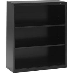 """Tennsco Welded Bookcases, 2 Shelves, 34 1/2""""x13 1/2""""40"""", Black"""