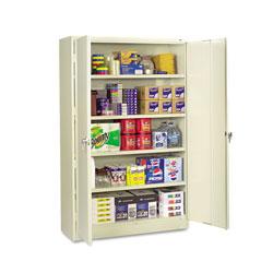 Tennsco Assembled Jumbo Steel Storage Cabinet, 48w x 18d x 78h, Putty