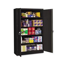 Tennsco Assembled Jumbo Steel Storage Cabinet, 48w x 24d x 78h, Black