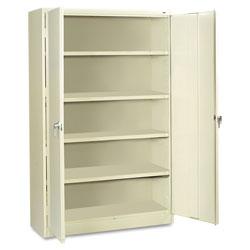 Tennsco Assembled Jumbo Steel Storage Cabinet, 48w x 24d x 78h, Putty