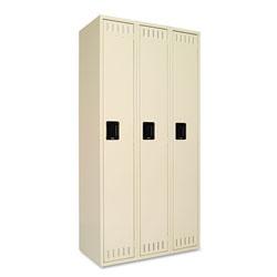Tennsco Single Tier Three Locker Unit, 36w x 18d x 72h, Sand