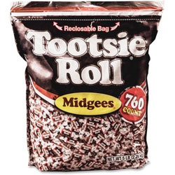 Tootsie Roll® Midgees, Original, 5 lb Bag