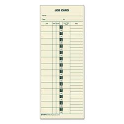 TOPS Job Card for Cincinnati/Lathem/Simplex, 1 Side, 3 1/2 x 9, 500/Box