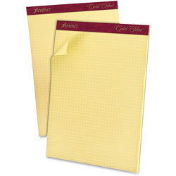 TOPS Quadrille Pads, 15lb, 4 Sq/Inch, 70/Sheets, 8-1/2 in x 11 in, Canary
