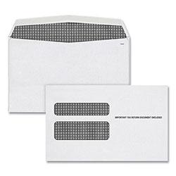 TOPS W-2 Laser Double Window Envelope, Commercial Flap, Gummed Closure, 5.63 x 9, White, 50/Pack
