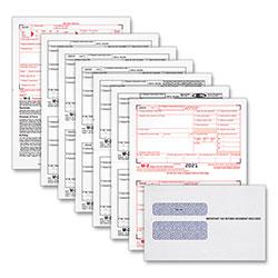 TOPS W-2 Tax Form/Envelope Kits, 8 1/2 x 5 1/2, 6-Part, Inkjet/Laser, 24 W-2s & 1 W-3