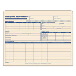 TOPS Employee Record Master File Jacket, Straight Tab, Letter Size, Manila, 20/Pack