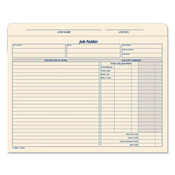 TOPS Job Folder, Straight Tab, Letter Size, Manila, 20/Pack