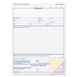 TOPS Proposal Form, 8-1/2 x 11, Three-Part Carbonless, 50 Forms
