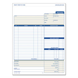 TOPS Snap-Off Job Invoice Form, 8 1/2 x 11 5/8, Three-Part Carbonless, 50 Forms