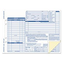 TOPS Auto Repair Four-Part Order Form, 8 1/2 x 11, Four-Part Carbonless, 50 Forms