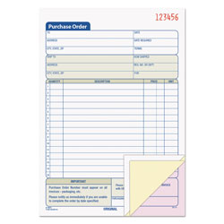 TOPS Purchase Order Book, 5 9/16 x 8 7/16, Three-Part Carbonless, 50 Sets/Book