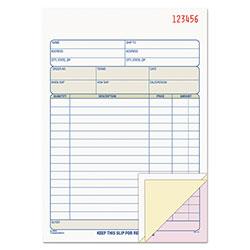 TOPS Sales Order Book, 5-9/16 x 7-15/16, Three-Part Carbonless, 50 Sets/Book