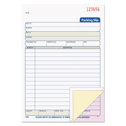 TOPS Packing Slip Book, 5 9/16 x 7 15/16, Three-Part Carbonless, 50 Sets/Book
