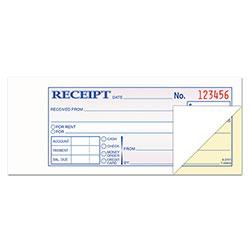TOPS Money and Rent Receipt Books, 2-3/4 x 7-3/16, 2-Part Carbonless, 100 Sets/Book