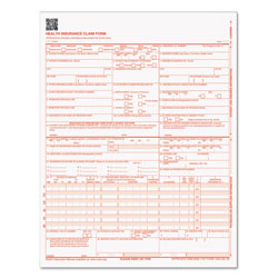 TOPS Centers for Medicare and Medicaid Services Claim Forms, CMS1500/HCFA1500, 8 1/2 x 11, 500 Forms/Pack