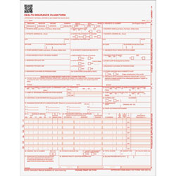 TOPS Laser Printer Claim Forms,CMS-1500,1-Part,9-1/2 inx11 in,500/PK