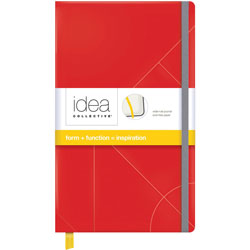 TOPS Journal, Notebook, Elastic Band, Wide Ruled, 8-1/4 in x 5 in, Red
