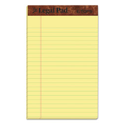 TOPS  inThe Legal Pad in Perforated Pads, Narrow Rule, 5 x 8, Canary, 50 Sheets, Dozen