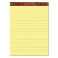TOPS  inThe Legal Pad in Ruled Pads, Wide/Legal Rule, 8.5 x 11.75, Canary, 50 Sheets, Dozen