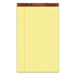 TOPS  inThe Legal Pad in Perforated Pads, Wide/Legal Rule, 8.5 x 14, Canary, 50 Sheets, Dozen