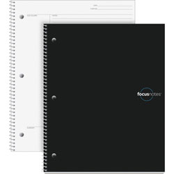TOPS Cornell Note Taking System Notebook, 20 lb, 11 in x 9 in, White