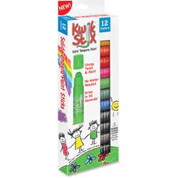 The Pencil Grip Kwik Stix Solid Tempera Paint Sticks, 12/PK, Ast