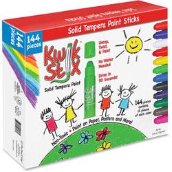 The Pencil Grip Kwick Stix Solid Tempera Pain Sticks, 144/PK, Ast