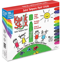 The Pencil Grip Classic Kwik Stix Paint Sticks, 96/PK, Ast