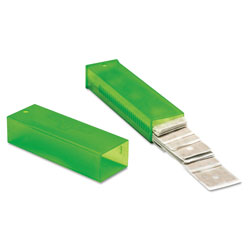 Unger ErgoTec Glass Scraper Replacement Blades, 4 in Double-Edge, 25/Pack