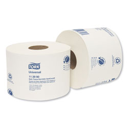 Tork Universal Bath Tissue Roll with OptiCore, Septic Safe, 1-Ply, White, 1755 Sheets/Roll, 36/Carton